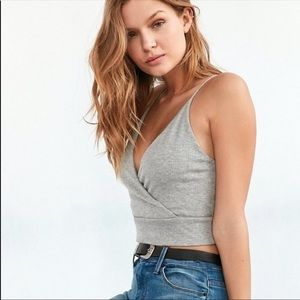 Urban Outfitters Kimchi Blue wrap front crop tank